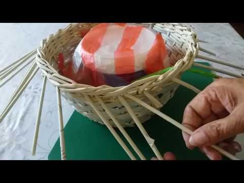 Плетение из газетных трубочек. Загибка розга с вариациями | oblacco
