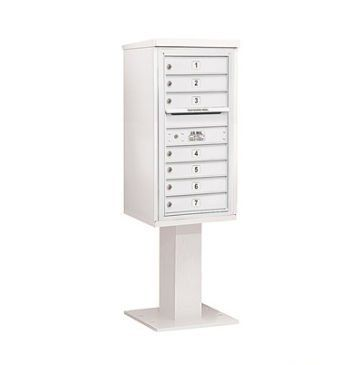 4c pedestal mailbox includes 26 inch high pedestal and master commercial lock 9 - Commercial Mailboxes