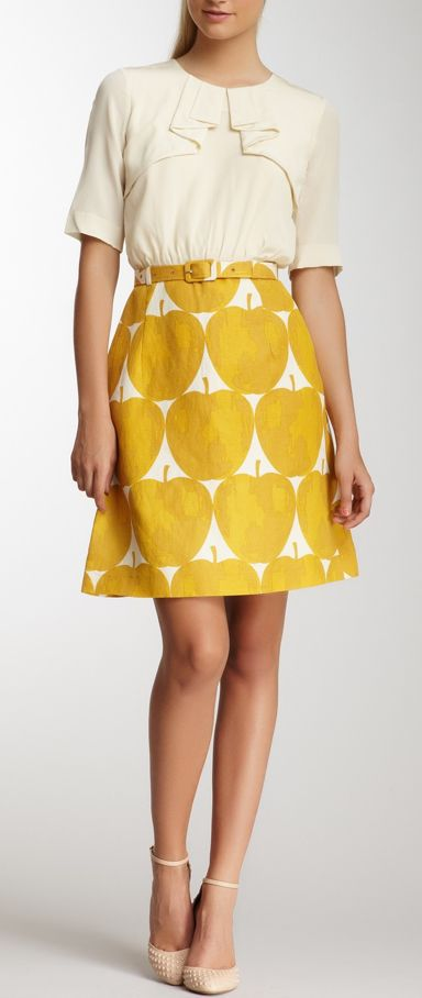 Apple print dress
