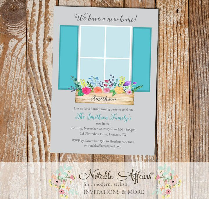birdcage wedding invitation template%0A New Home Housewarming Party invitation