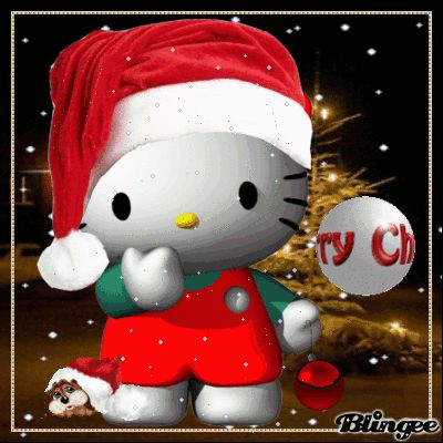 Hello Kitty Christmas pictures | HELLO KITTY Merry Christmas Picture #119582878 | Blingee.com