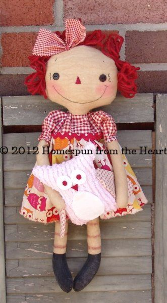 Raggedy Ann with Hoots Owl PM $5.50