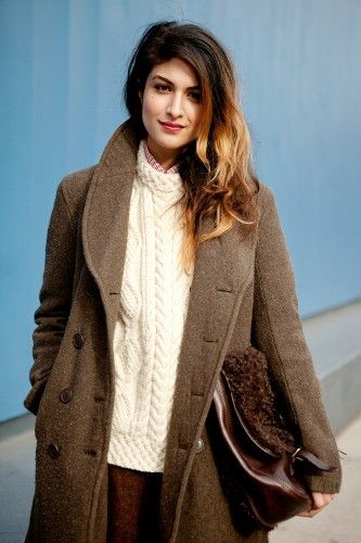 love the natural browns: Sweater, Fashion, Street Style, Hairs, Coat