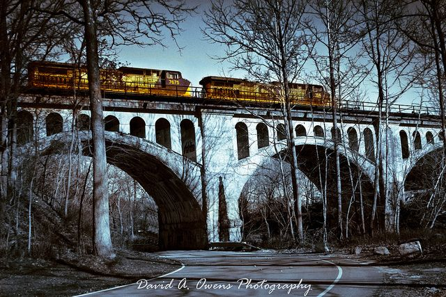 The Haunted Bridge of Avon, Indiana has a story behind it, as all haunted bridges do. It is situated about a half mile south of U.S. Highway 36, on Avon's County Road 625, just a few minute's drive from Indianapolis. The best view of the Haunted Bridge is from the Avon-Washington Township Park, just below it.