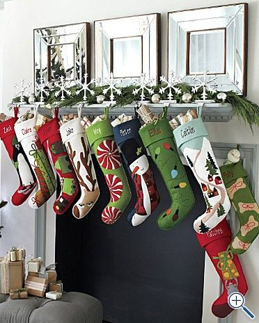 Love these! aubrey needs an angel or sugarplum fairy though...Christmas Stockings, such cute styling!!