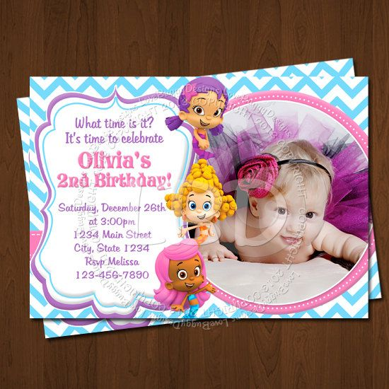 Bubble Guppies Invitation, Bubble Guppies Birthday Invitations, Photo Bubble Guppies Party Printables - YOU PRINT - Style 10