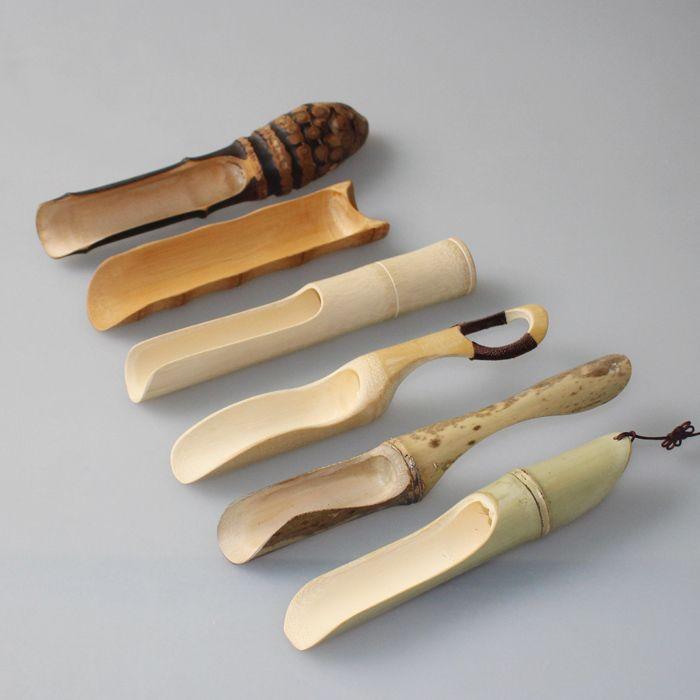 Bamboo tea scoop tea kung fu tea ceremony in Japan Noritake tea accessories tea spoon Dutch roll winding variety of mouth