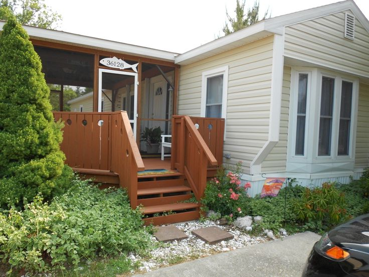 about mobile home porch ideas on pinterest decking mobile home