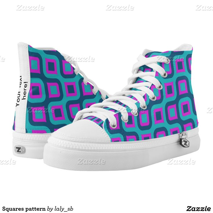 Squares pattern printed shoes