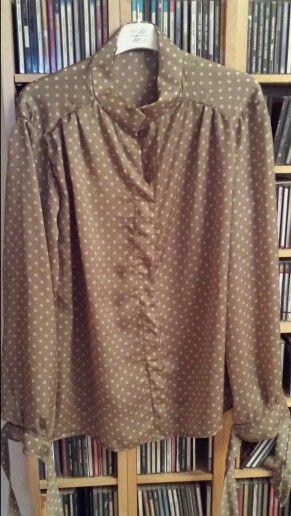 Camicia in satin, cartamodello da La mia boutique, 10/2015
