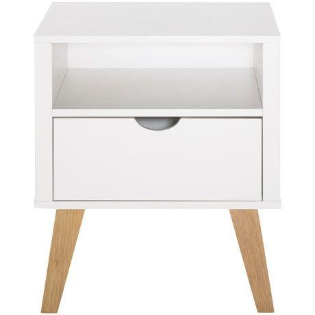 Frieda 1 Drawer Bedside Table | Freedom Furniture and Homewares