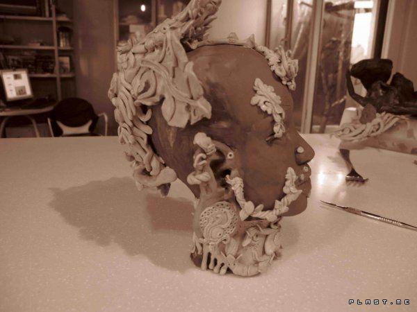 голова женщины из африканского племени