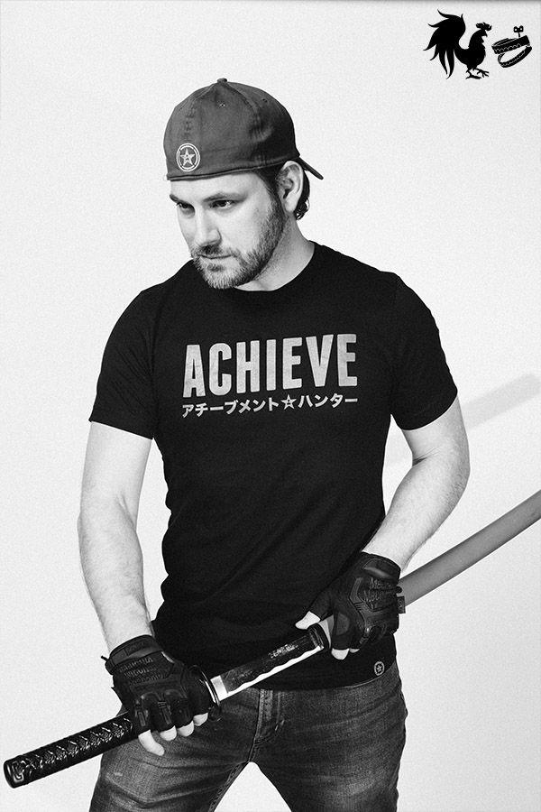 76b850ac Achievement Hunter Katakana Achieve T-Shirt Achievement Hunter, Rooster  Teeth Store, Hero,