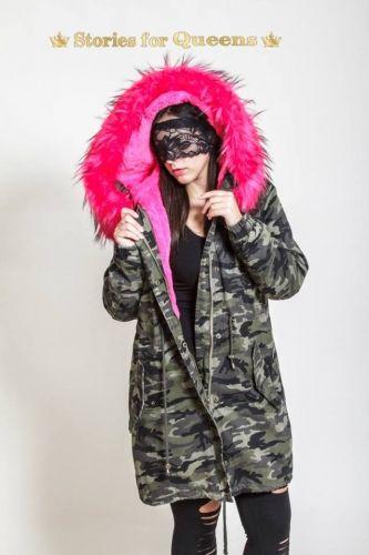Παρκά στρατιωτικό με γούνα και γιακά που αφαιρείται.  http://handmadecollectionqueens.com/ενδυματα/μπουφαν/Παρκα-στρατιωτικο-με-γουνα  #fashion #parka #women #jacket #fur #clothing #storiesforqueens