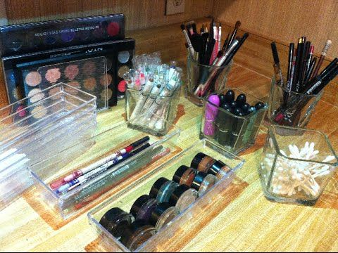 ░Clear Makeup Storage Ideas From Dollar Tree░ - YouTube