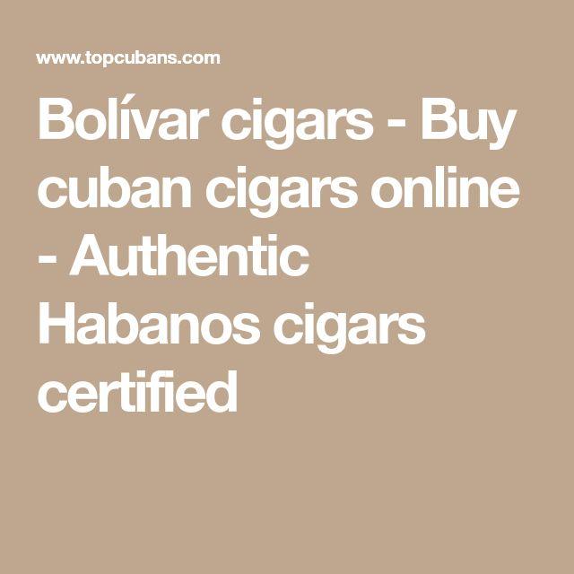 Bolívar cigars - Buy cuban cigars online - Authentic Habanos cigars certified