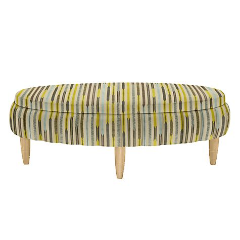 Buy John Lewis Paramount Oval Upholstered Footstool Online at johnlewis.com