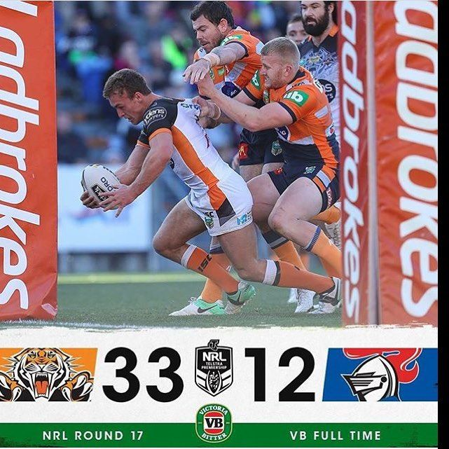 """20 Likes, 2 Comments - NRL_SCORES_UPDATES (@nrl_scores_updates) on Instagram: """"Tigers fans  finally have something to be happy about its been 8 weeks since there last win"""""""
