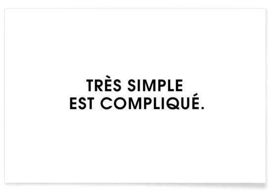 Très simple est compliqué - White - Intertitres - Premium poster