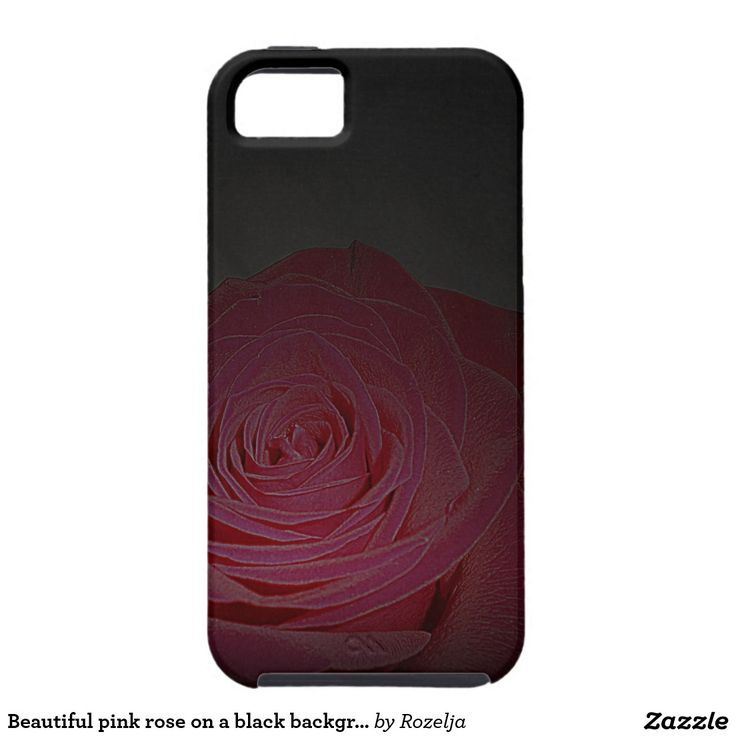 Beautiful pink rose on a black background case for the iPhone 5