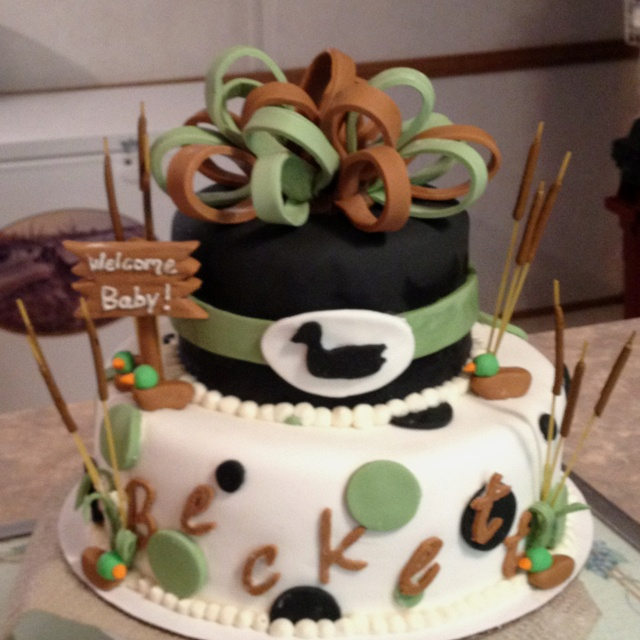 Hunting Baby Shower Cake