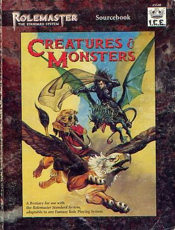 Product Line: Rolemaster  Product Edition: RMSS  Product Name: Creatures & Monsters  Product Type: Sourcebook  Author: ICE  Stock #: 5540  ISBN: 1-55806-221-1  Publisher: ICE  Cover Price: $30.00  Page Count: 318  Format: Softcover  Release Date: 1995  Language: English