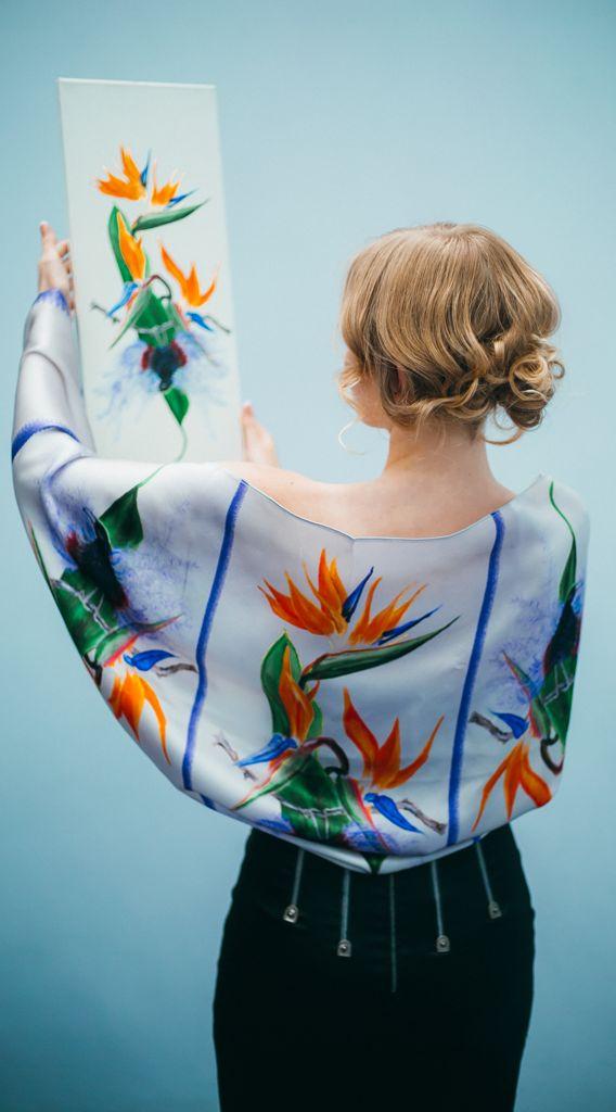 Silk Bolero Scarf – Bird of Paradise - Inspired By Elle