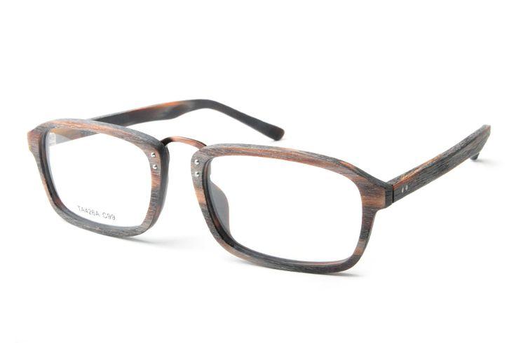 2017 Vintage Acetate Wood Myopia Glasses Frame Brand Design Computer Eye Glasses Frames For Men Women monturas de gafas TA426A