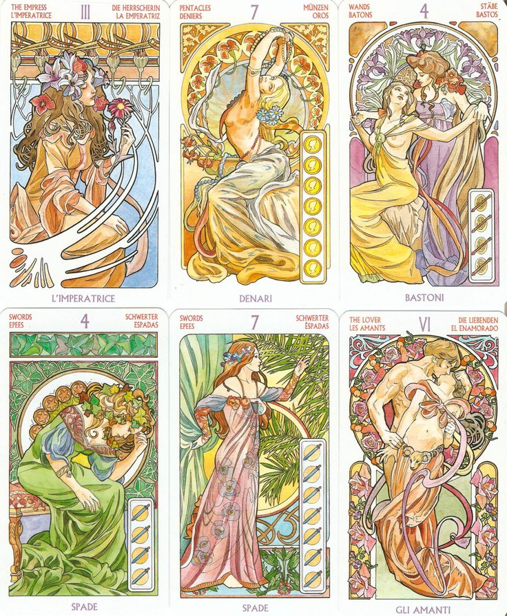 From Tarot Art Nouveau by Antonella Castelli. Click for high quality.