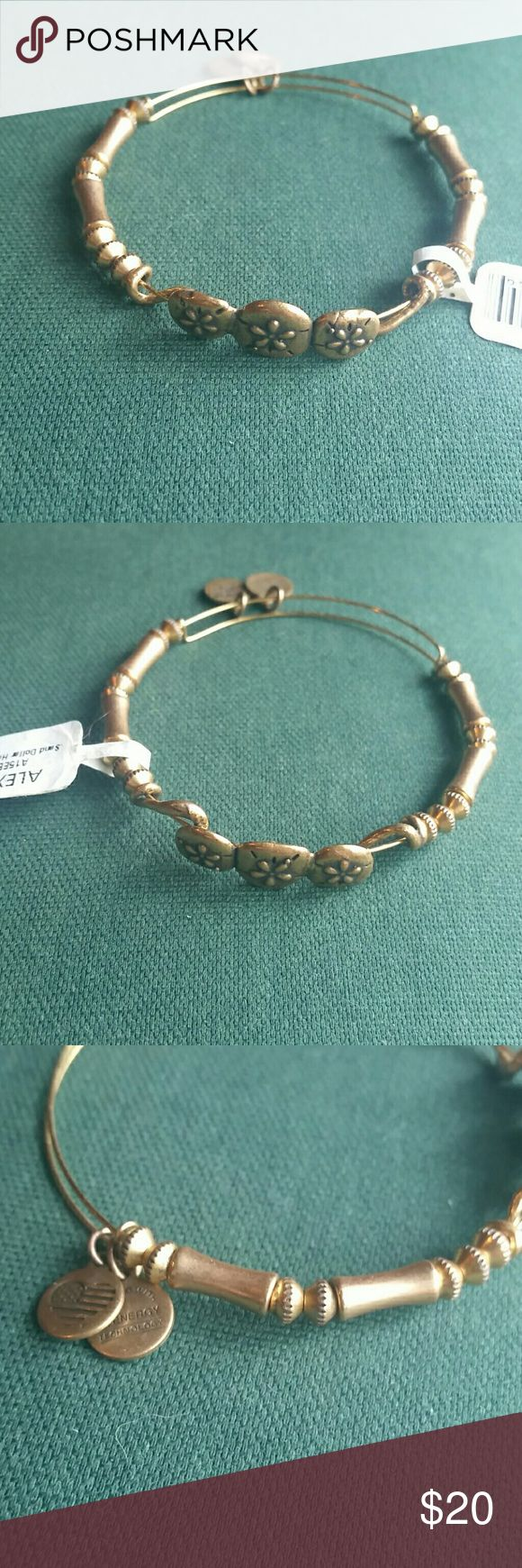 Alex and Ani Horizontal Sand Dollar Bangle in Gold Amazing new and authentic Alex and Ani Uncharted Voyage Horizontal Sand Dollar braceket in Raf. Gold. Adjustable. Will come with it's info booklet,  packed safe and with a free gift! Alex & Ani Jewelry Bracelets