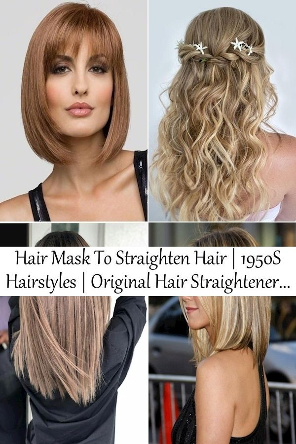 Hair Mask To Straighten Hair 1950s Hairstyles Original Hair Straightener In 2020 Straight Hairstyles Hair Styles 1950s Hairstyles