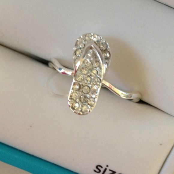 Jewelry - Silver Flip Flop Ring