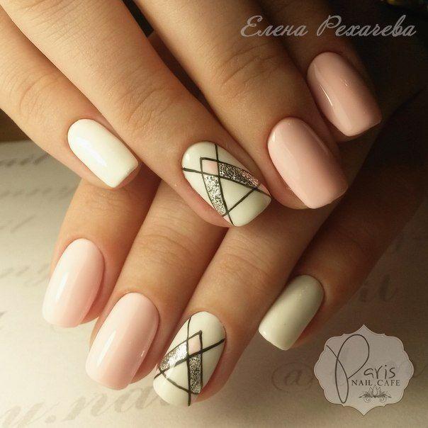 Accurate nails, Cool nails, Everyday nails, Geometric nails, Medium nails, ring finger nails, Summer nail art, Summer nails 2017                                                                                                                                                     More
