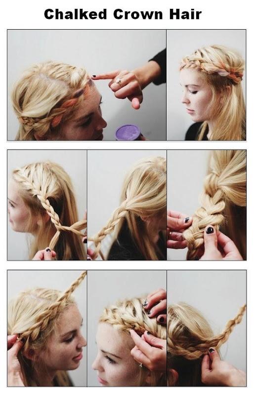 Chalked Crown Hair | hairstyles tutorial