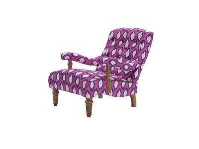 churchill armchair in magenta Mariska Meijers electric ikat - http://www.sofa.com/shop/sofas/armchairs/churchill-armchair/customize/size/110/fabric/MSKEIM/
