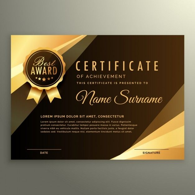 Elegante certificado de lujo Vector Gratis