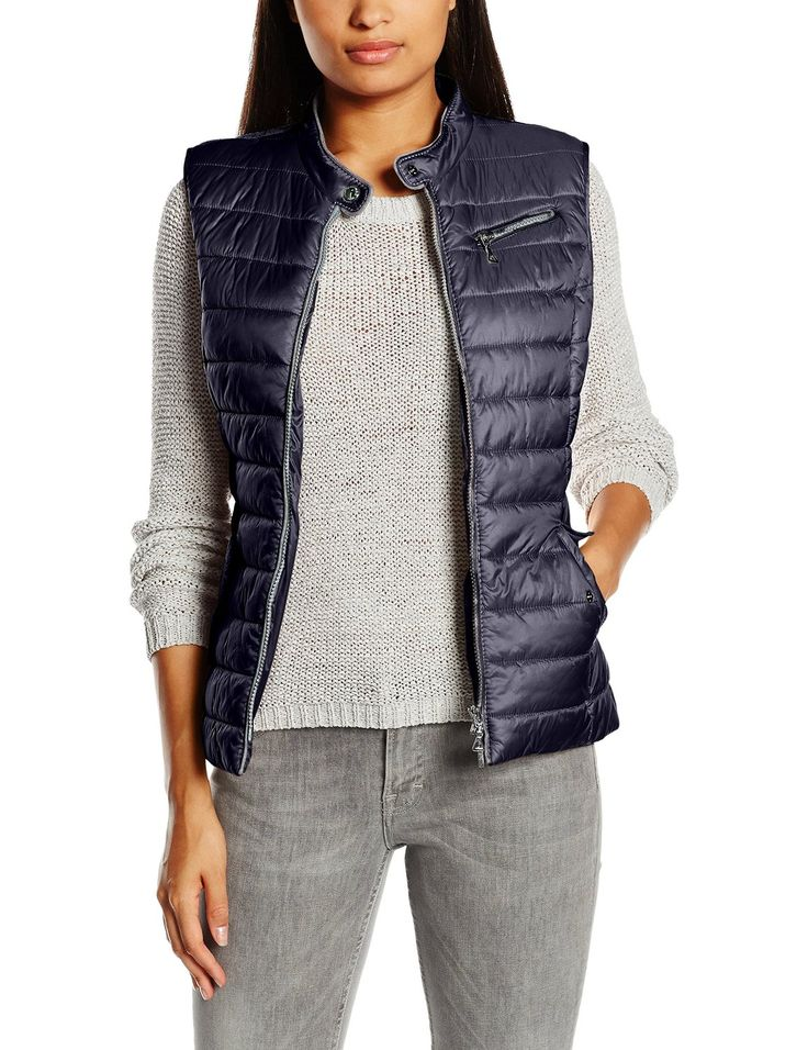 Gerry Weber Women's Pearlised Quilted Sleeveless Sports Gilet: Amazon.co.uk: Clothing