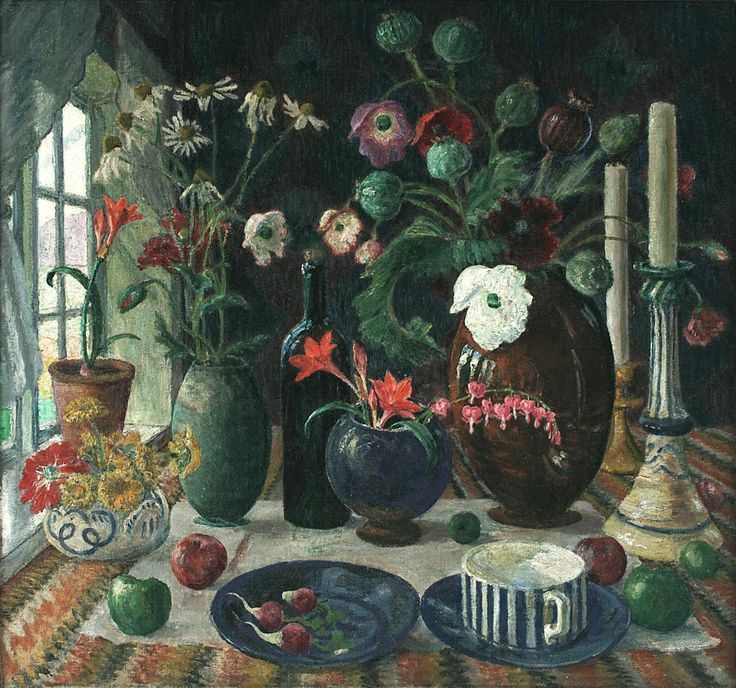 Still Life, 1925, oil on canvas, 67 x 72 cm. Nikolai Astrup 1880-1928