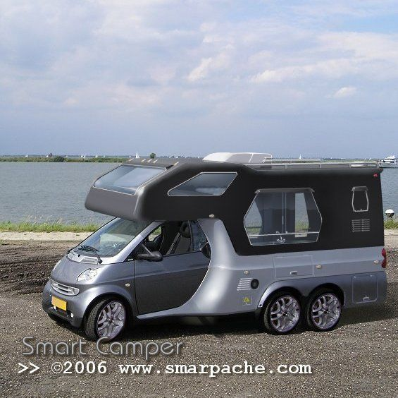 This is a fake smartcar Camper, but it sure does look good.  Nice computer job.