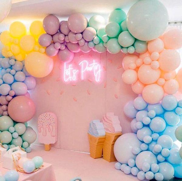 Birthday Balloon Decoration Ideas Birthday Balloon Decorations Baby Birthday Balloon Ice Cream Birthday Party