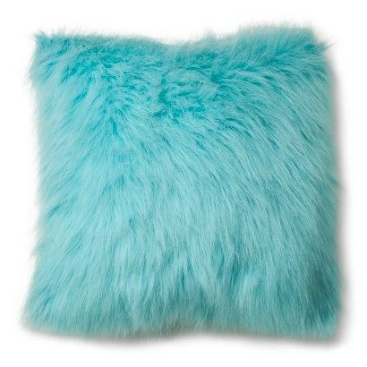 Xhilaration® Faux Fur Decorative Pillow - Turquoise