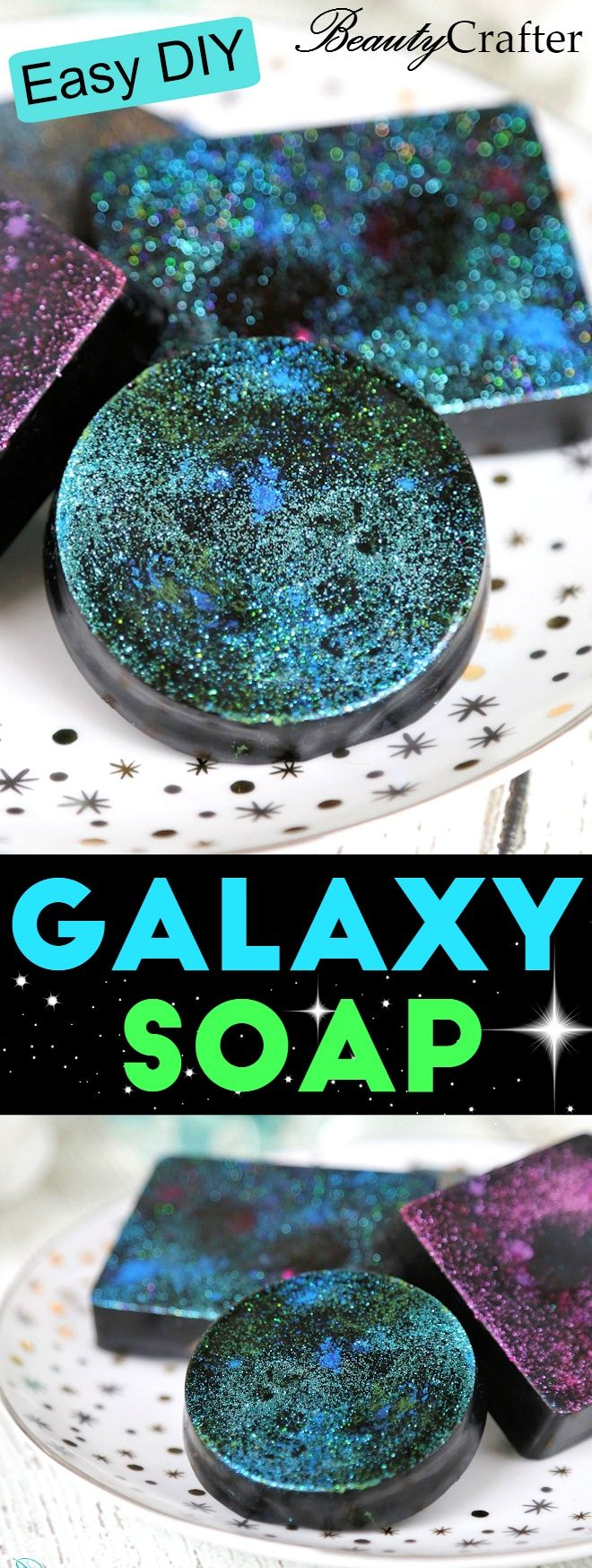 DIY Galaxy Soap: Cosmic Charcoal Soap Recipe