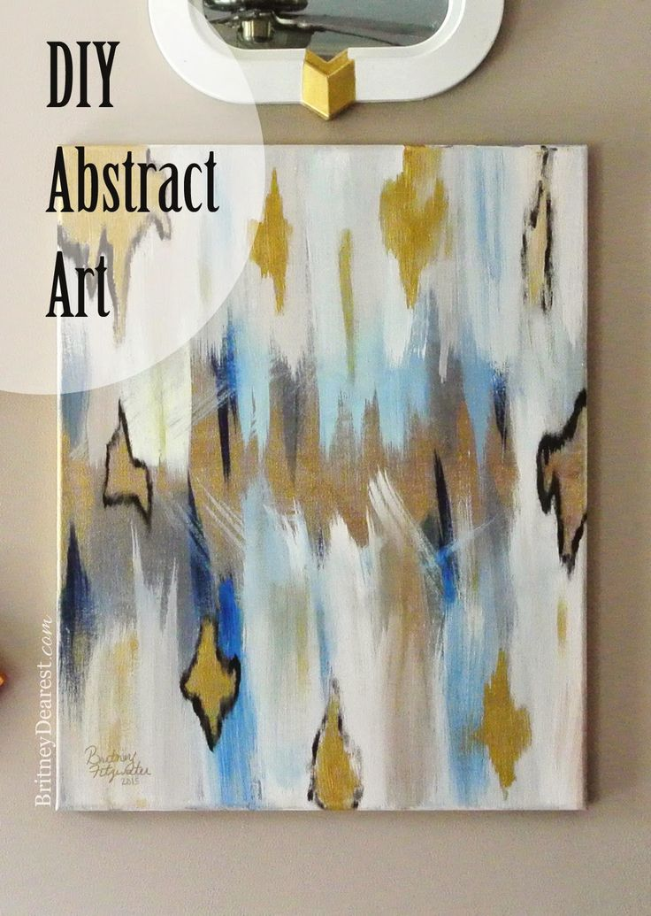 17 best images about diy crafts that i love on pinterest for Diy abstract wall art