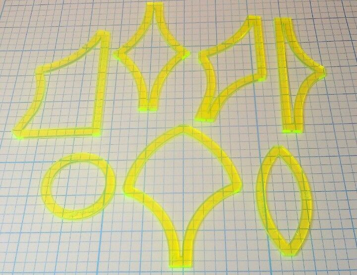 How To Use Acrylic Quilting Templates : 1000+ images about Acrylic Quilting Templates on Pinterest