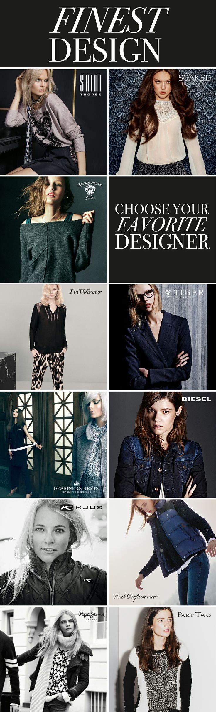 Die COMPANYS Designer Brands übersetzten angesagte Trends in atemberaubende Kollektionen, die Individualität, Stil und Exklusivität vereinen.  Wählen Sie Ihren Lieblings-Designer - klassisch, trendy oder casual!