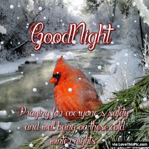 Animated Winter Goodnight Quote