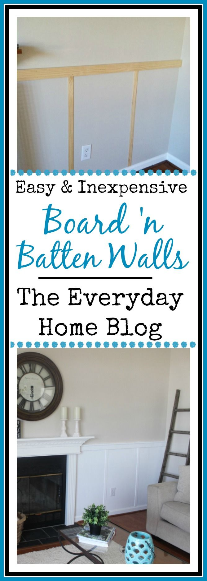 Filed under board and batten wainscoting diy diy projects - Inexpensive Wall Treatment