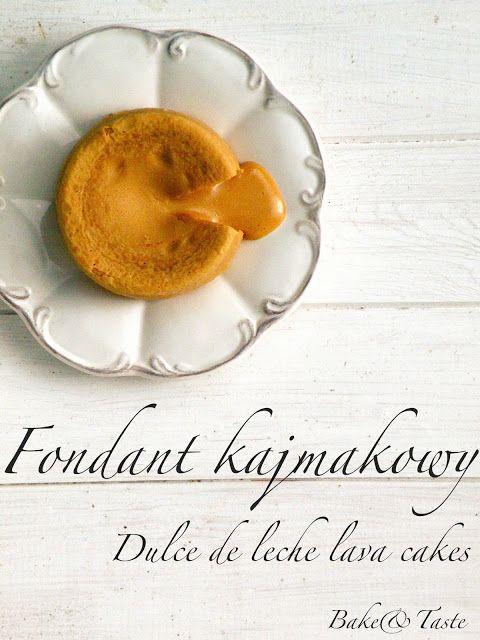 Bake&Taste: Fondant kajmakowy - babeczki z płynnym kajmakiem
