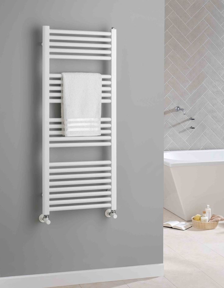 The Radiator Company Lupin white heated towel