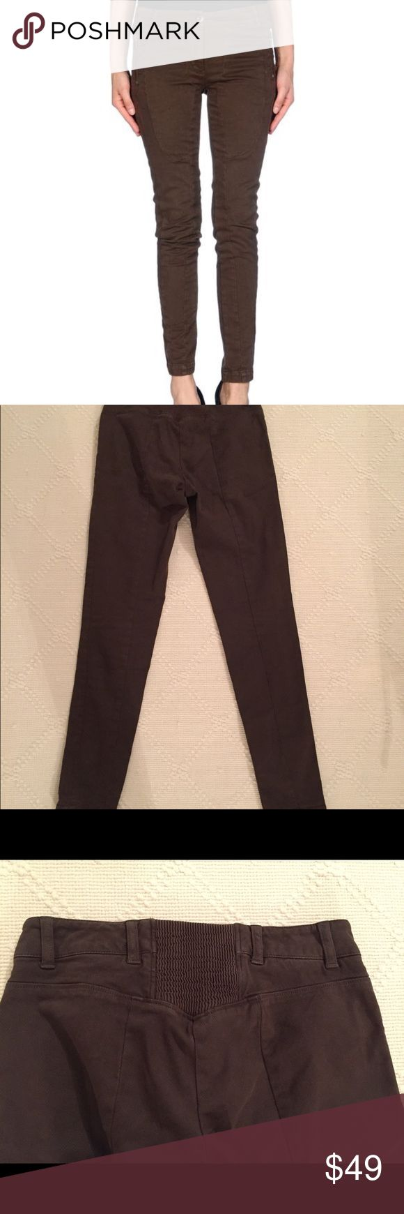 """NWOT Coast Weber & Ahaus skinny pants, 0 Italian designer pants with low waist skinny leg.  Side zip pocket.  Italian size 38.  Inseam is 28"""".  Never worn, brand new meant to keep them but don't feel like getting hemmed, willing to part coast weber & ahaus Pants Skinny"""